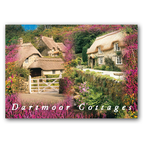 Dartmoor Cottages - Sold in pack (100 postcards)