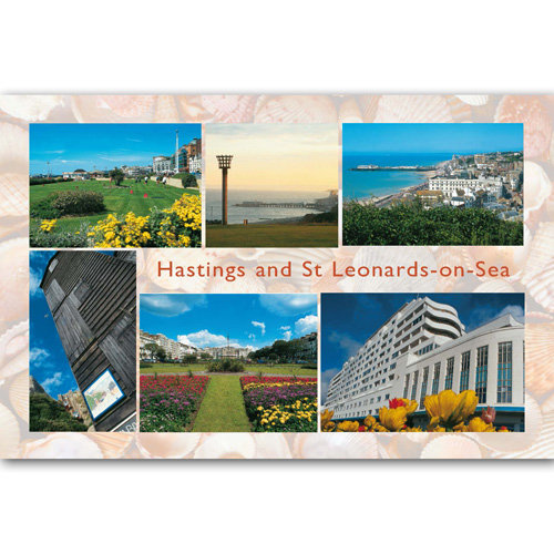 Hastings & St Leonards-on-sea - Sold in pack (100 postcards)