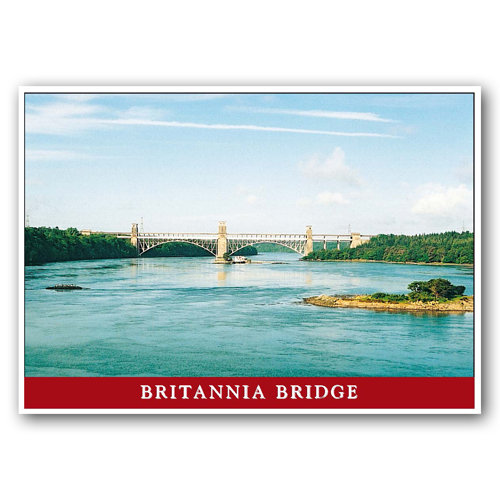 Menai Britannia Bridge - Sold in pack (100 postcards)