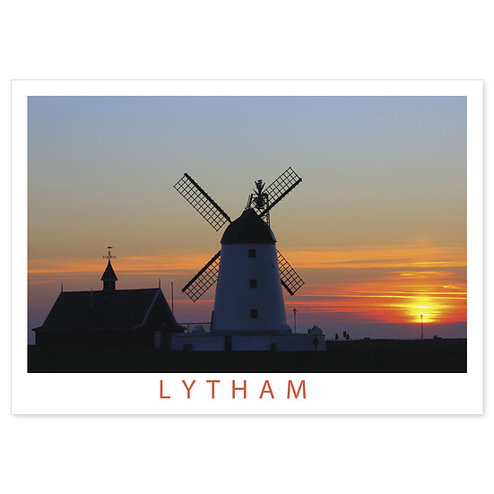 Lytham Sunset at Windmill - Sold in pack (100 postcards)