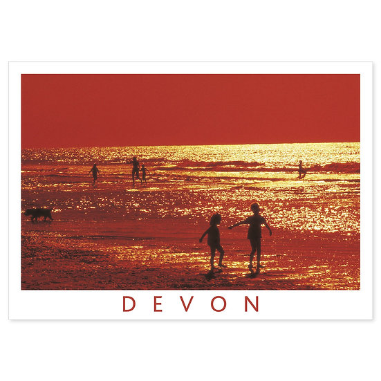 Devon Down In Sunset - Sold in pack (100 postcards)