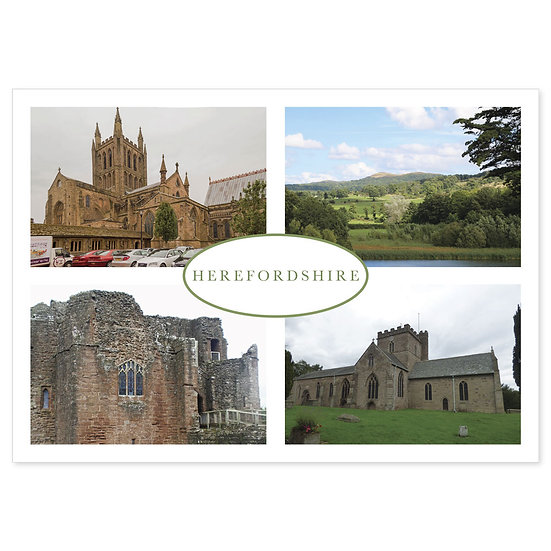 Herefordshire - Sold in pack (100 postcards)