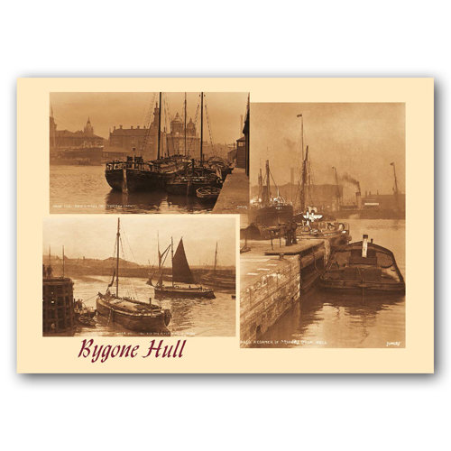 Hull Sepia 3 View Comp - Sold in pack (100 postcards)