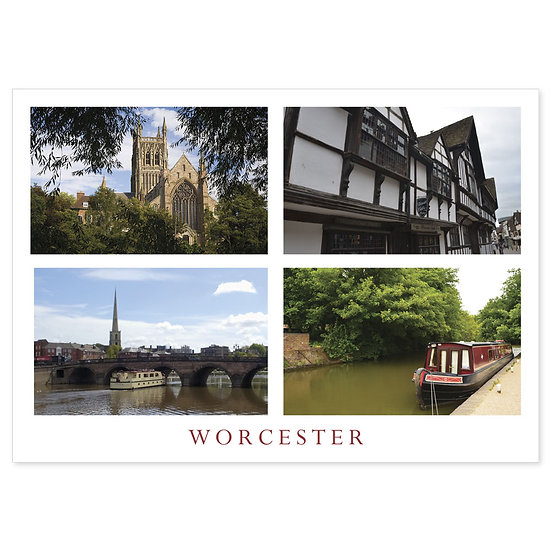 Worcester The Commanery - Sold in pack (100 postcards)
