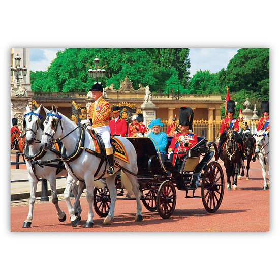 London The Royal Carriage - Sold in pack (100 postcards)
