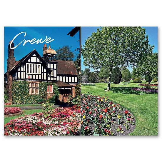 Crewe, Queen's Park, Cottage & garden - Sold in pack (100 postcards)