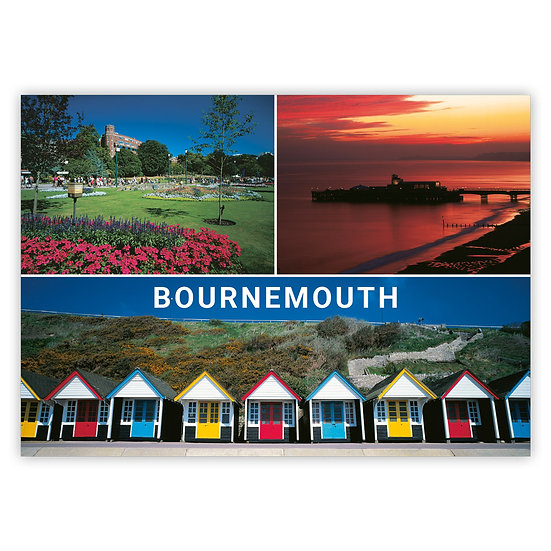 Bournemouth 3 View Comp - Sold in pack (100 postcards)