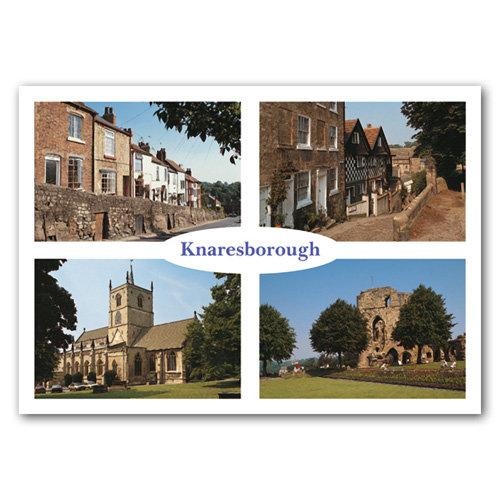 Knaresborough 4 View Comp - Sold in pack (100 postcards)