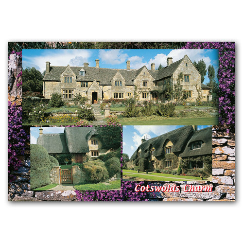 Cotswolds Charm 3 View Comp - Sold in pack (100 postcards)