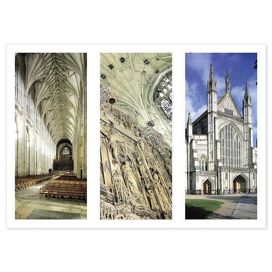 Winchester Cathedral Inner View Compilation - Sold in pack (100 postcards)