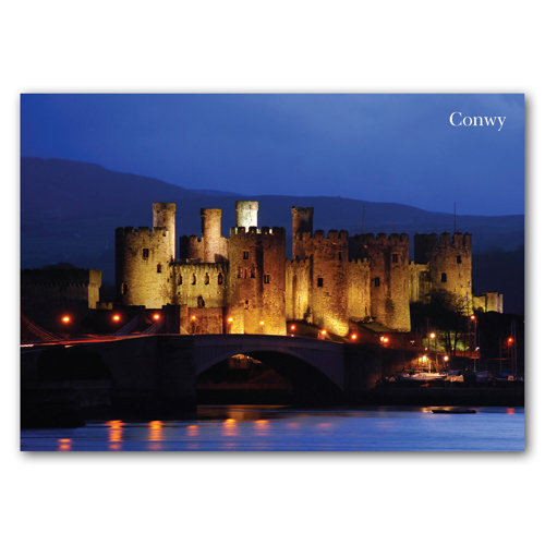Conwy Castle At Night - Sold in pack (100 postcards)