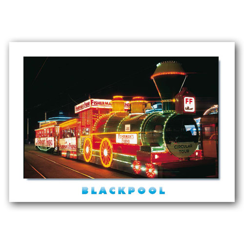 Blackpool Illuminated Train - Sold in pack (100 postcards)