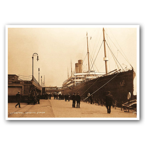 Liverpool Sepia Landing Stage - Sold in pack (100 postcards)