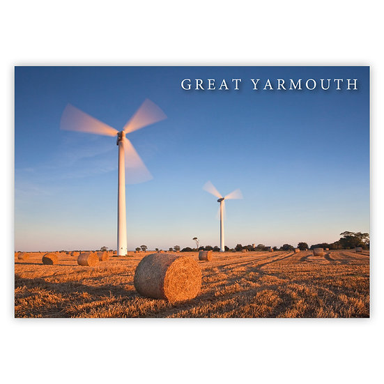 Great Yarmouth, Turbines - Sold in pack (100 postcards)