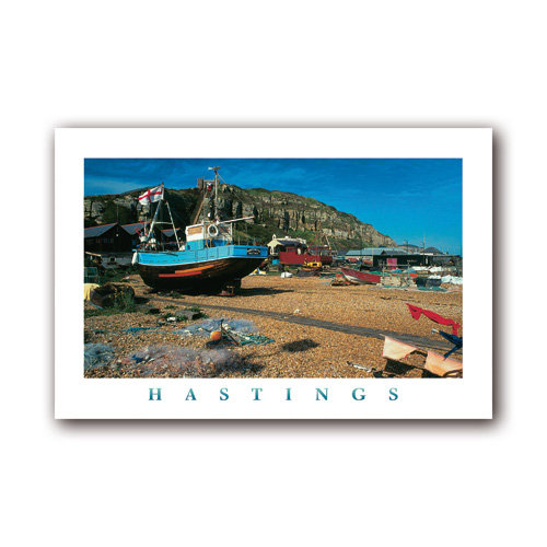 Hastings The Stade & Easthill - Sold in pack (100 postcards)
