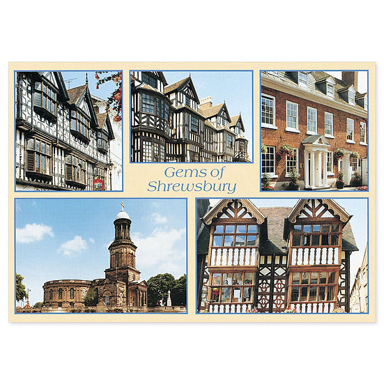 Shrewsbury Gems of Shrewsbury Compilation - Sold in pack (100 postcards)