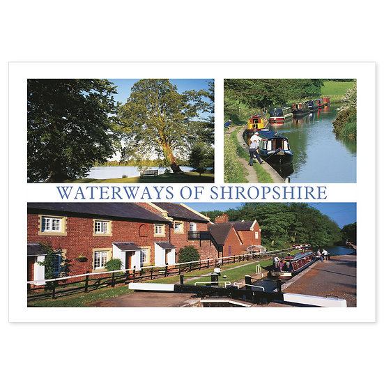 Shropshire North Waterways Of - Sold in pack (100 postcards)
