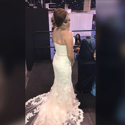 I got 2nd place at the _premiere_orlando  bridal makeup competition!!! Shout out to _thewhiteclosetb