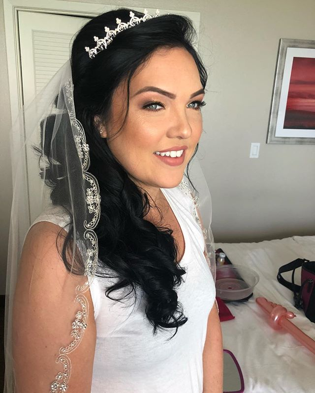 Beautiful bridal hair and makeup trial!!