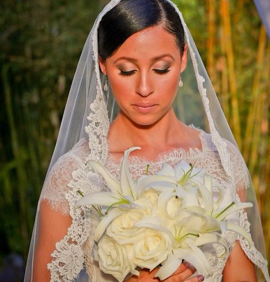 Blushing bride!
