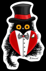 Edmund Be My Valentine Sticker