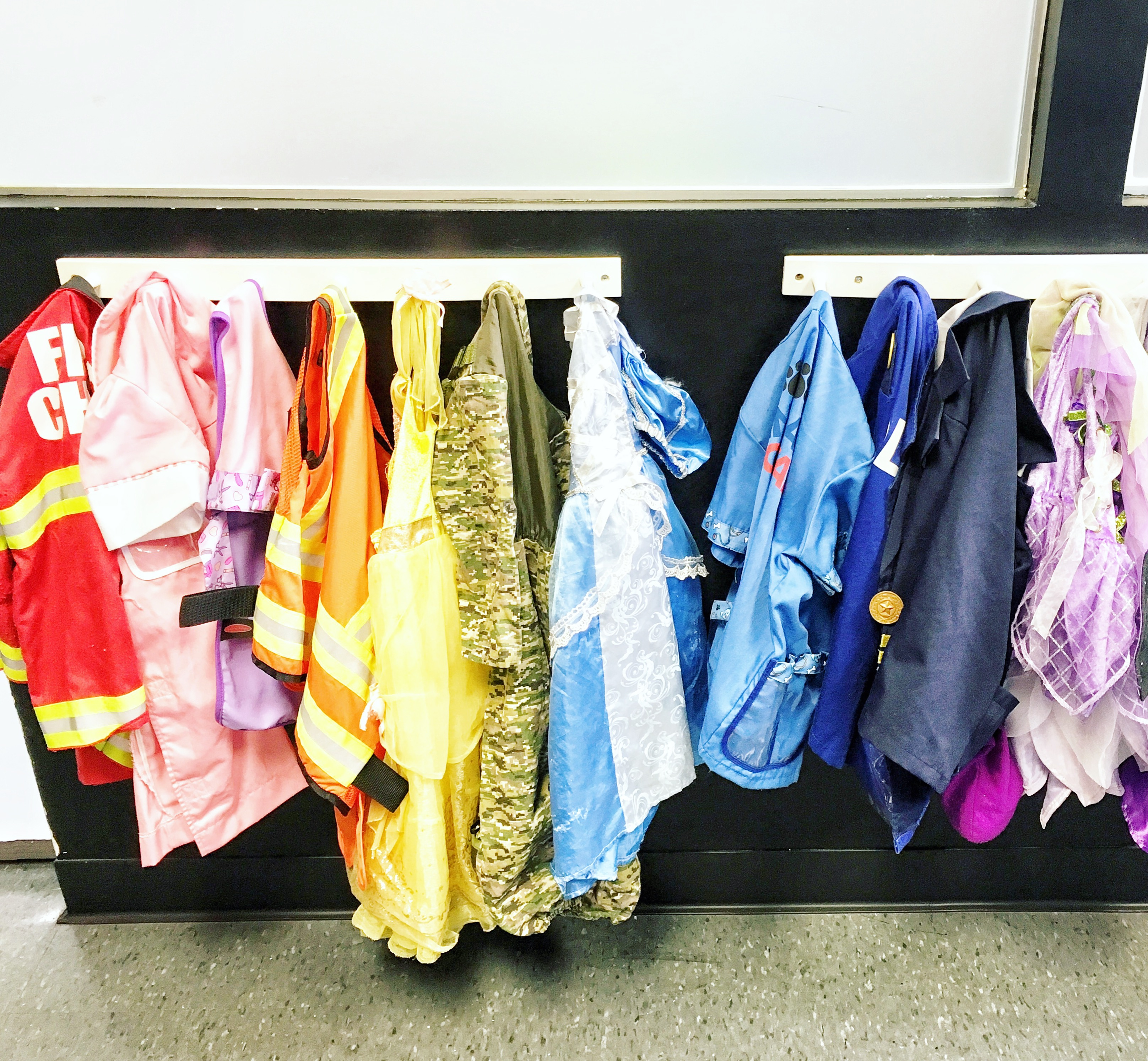Organized Dress Up Clothes