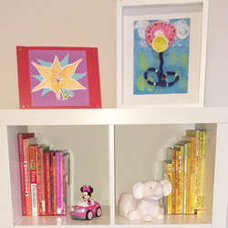 organized kids bookcase