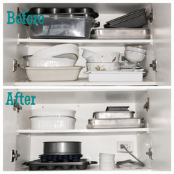 baking cabinet: before & after