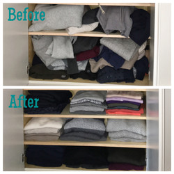 sweaters: before & after