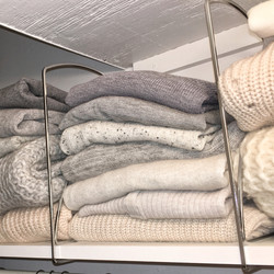 #sweaterstacks- organized closet