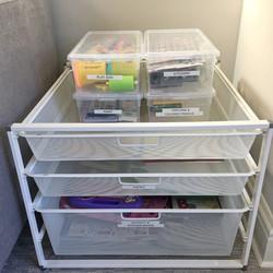 Organized Arts & Crafts supplies