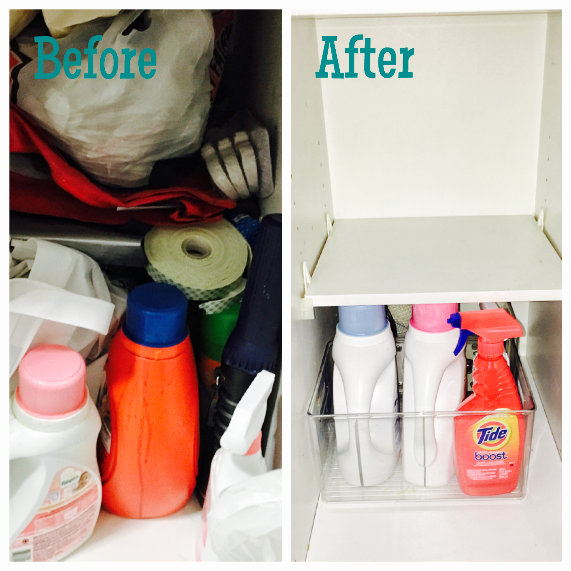 utility cabinet: before & after