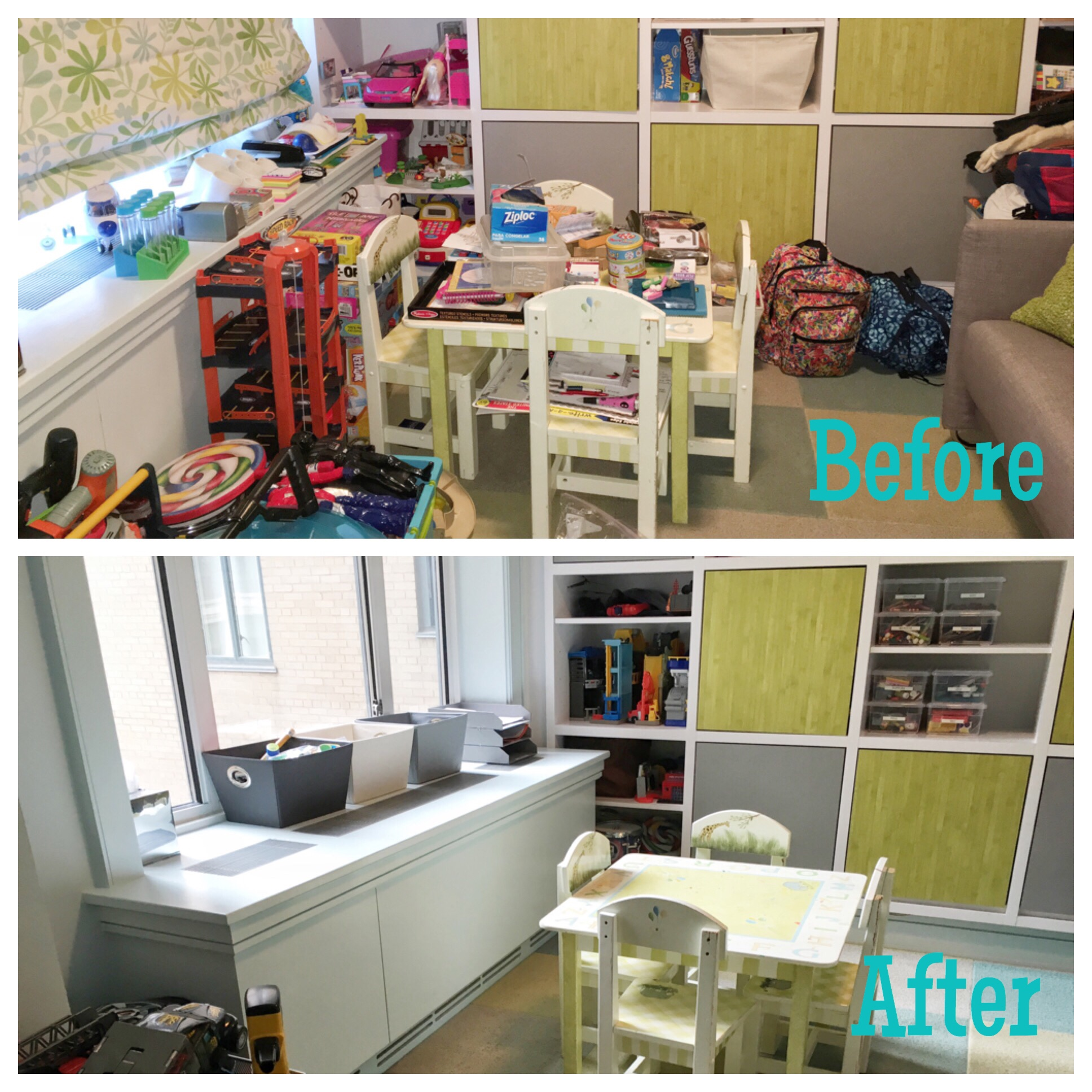 playroom edit: before & after