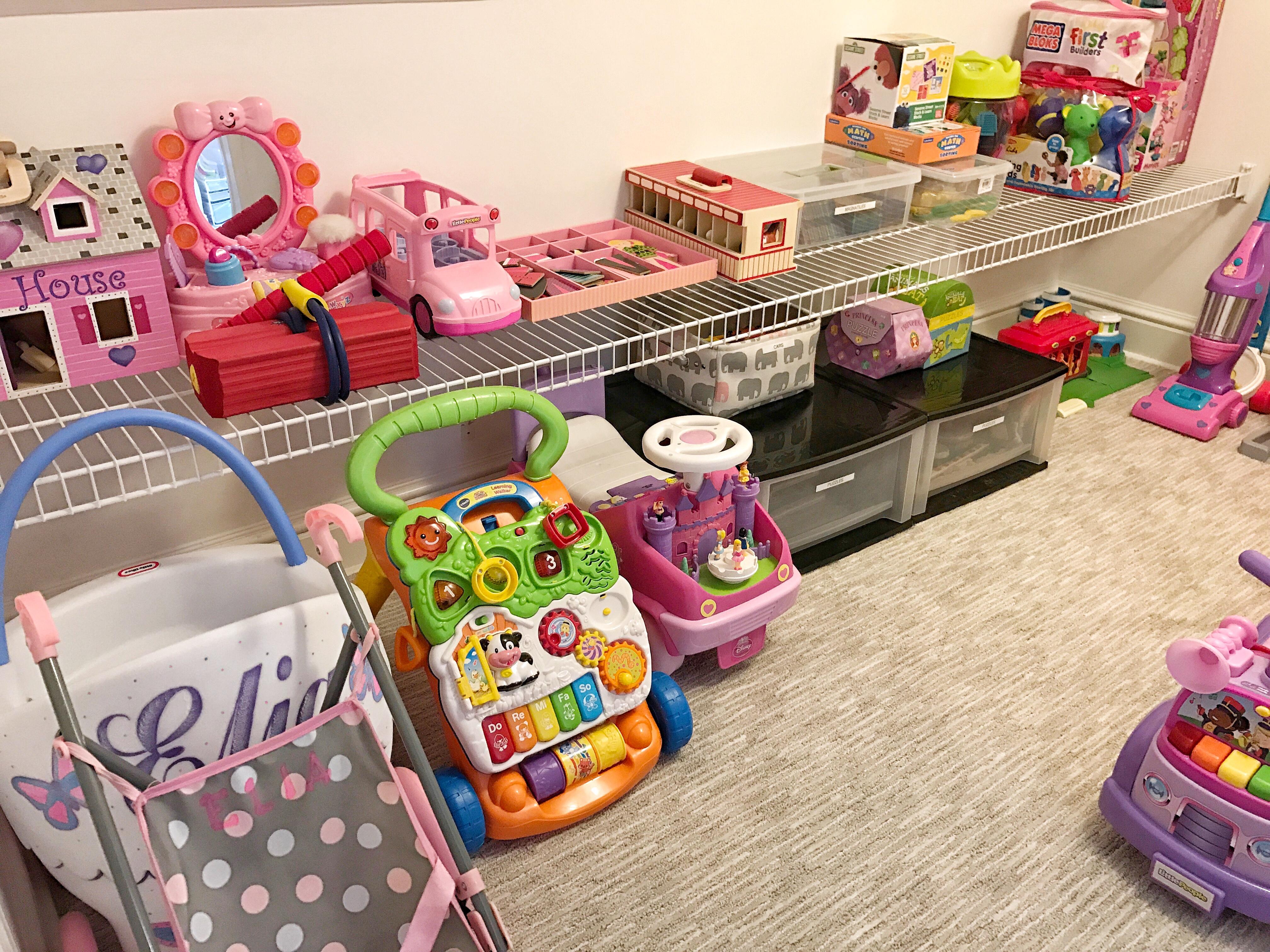 Organized Toy Closet