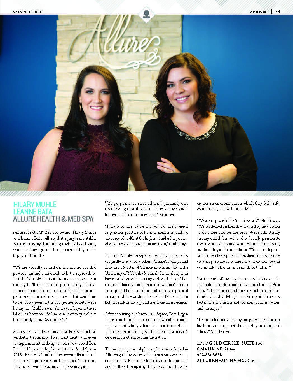 B2B Magazine Article | Allure Health & Med Spa - Omaha