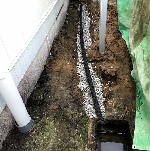 水はけをよくする工事:透水管(ネトロンパイプ)[1mあたり]