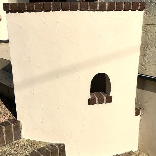 塗壁門柱(ジュラクペンアート仕上げ)