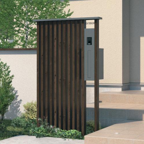 機能門柱+枕木材:マクリズム