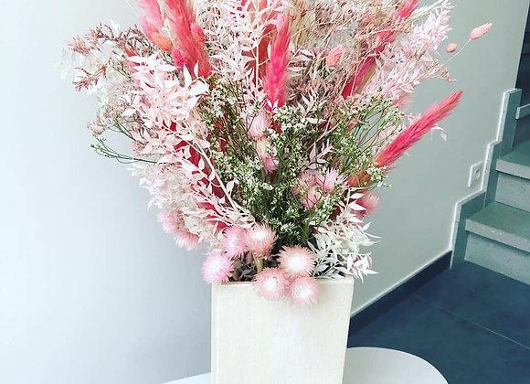 Bouquet séché lovely avec vase