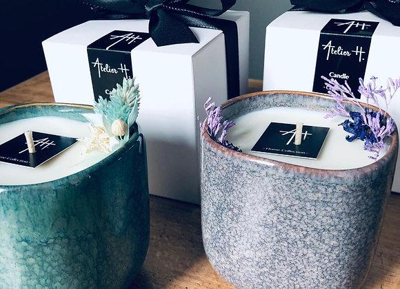 Bougie parfumée cube céramique