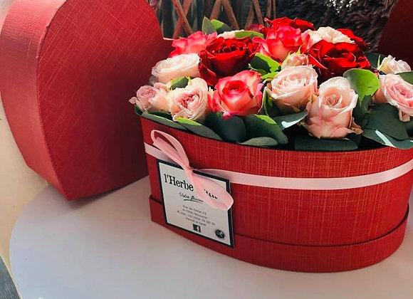 "Boite coeur ""rose amour"""