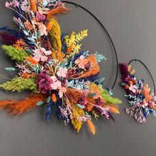 Couronne sauvage fleurs séchées