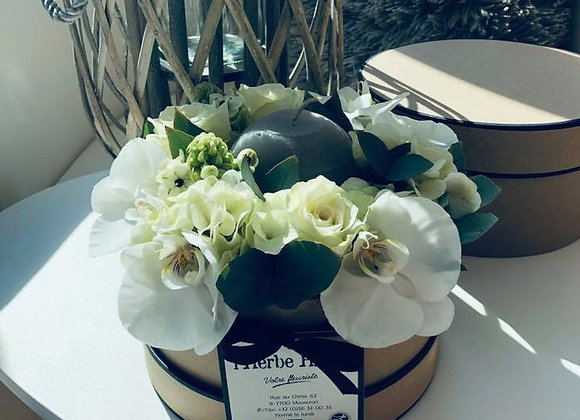 Boite fleurie bougie