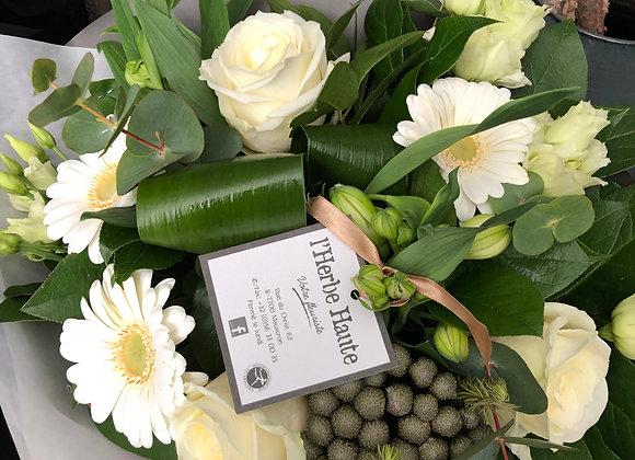 Bouquet blanc serré 1