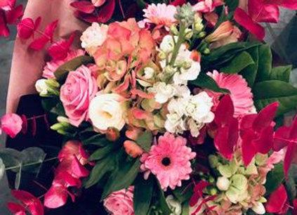 Bouquet hiver rose