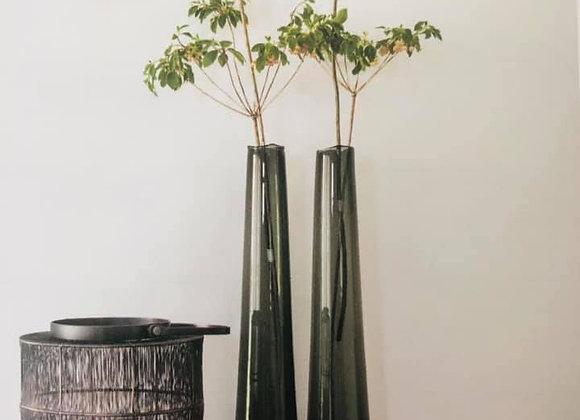 Long vase organic teinte fumée