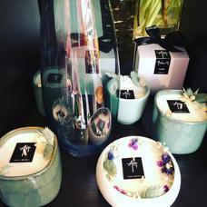 Assortiment bougie et vase, bleu turquoise