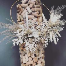 Couronne bouchon fleurs séchées