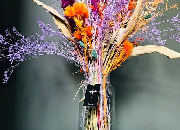 Bouquet séché vase nature sauvage