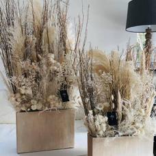 Bouquet fleurs séchées teinte naturelle